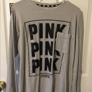 Pink long sleeve size M